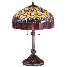 """Tiffany Candice 24"""" H Table Lamp with Bowl Shade"""