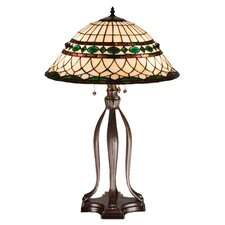 "Tiffany Roman 30"" H Table Lamp with Bell Shade"