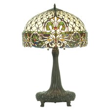 """Rococo 31"""" H Table Lamp with Bowl Shade"""
