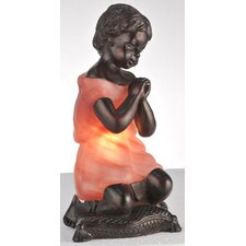 "Silhouette Praying Child 9"" H Table Lamp with Novelty Shade"