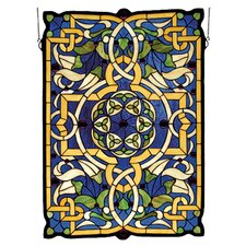 Nouveau Gaelic Tapestry Stained Glass Window