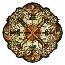 Tiffany Mackintosh Nouveau Galway Medallion Stained Glass Window
