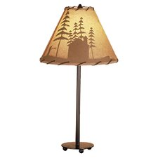 """Rustic Lodge Painted 23.5"""" H Table Lamp with Empire Shade"""