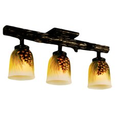 Rustic Northwoods 3 Light Pinecone Han