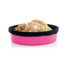 Bread Basket with Black Bread Bag in Pink