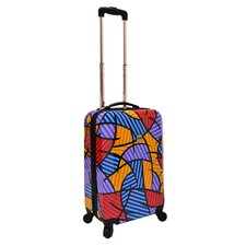 "Fashion Multi-Pattern 20"" Hardsided Spinner Suitcase"