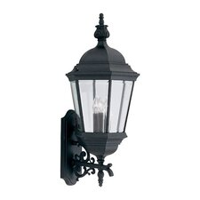 Budget Cast Aluminum 3 Light Wall Lantern