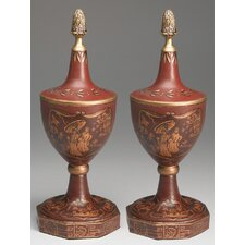 Asian Decorative Urn (Set of 2)