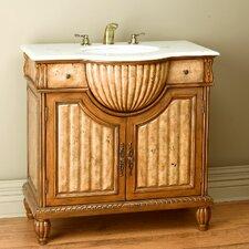 """36"""" Single Ornate Bathroom Vanity Set"""