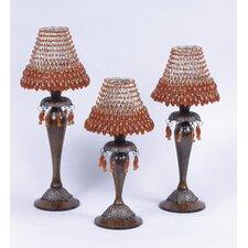 Brass / Bead Candlesticks (Set of 3)