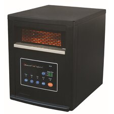 1,500 Watt Portable Electric Infrared Cabinet Heater with Remote