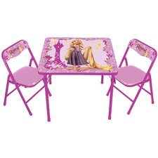 Disney Princess Rapunzel Kids Square Activity Table Set
