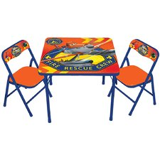 Planes Fire & Rescue Kids Square Activity Table Set