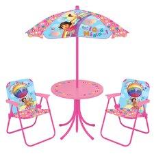 Dora OTR Kids 4 Piece Kids Round Patio Table Set