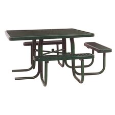 3-Seat ADA Square Picnic Table with Diamond Pattern