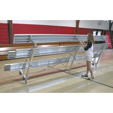 Tip N Roll Three-Row Aluminum Bleacher