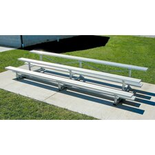 Aluminum Three-Row Bleacher