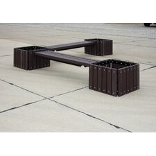 UltraSite Recycled Plastic Bench with 3 Planters