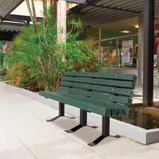 UltraSite Recycled Plastic In-ground Bench