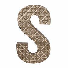 Small Wood S Design Letter Block