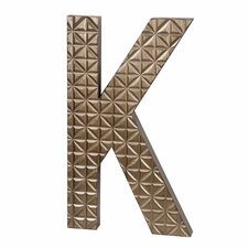 Small Wood K Design Letter Block