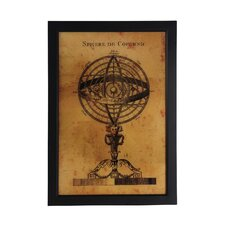 Vintage Globe Framed Wall Art