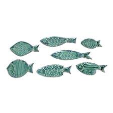 7 Piece Fish Wall Decor Set
