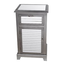 1 Drawer and 1 Door Shutter Accent Chest