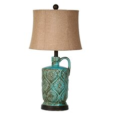 Ceramic Jar Table Lamp with Bell Shade