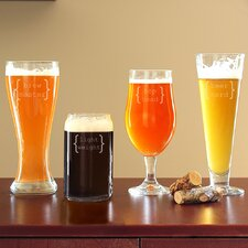 4 Piece Specialty Beer Glass Set