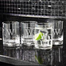 Gifts Etched Drinking Glass (Set of 4)