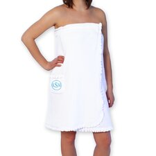 Personalized Spa Wrap with Encircled Block Monogram