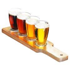Personalized 5 Piece Beer Flight Sampler Set