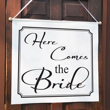 Here Comes the Bride Custom Wedding Banner
