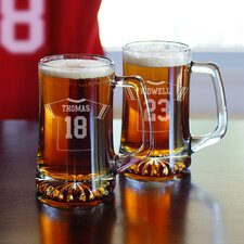 2 Piece Football Jersey Mug Set (Set of 2)