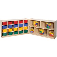 Fold and Lock Mobile 20 Compartment Cubby