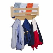 Wall Mount Coat Rack with Paper Storage