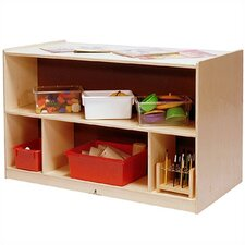 Toddler Double-Sided Storage Cabinet