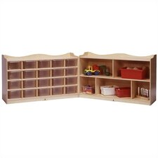 20-Tray Scalloped Fold and Lock Mobile Storage Unit