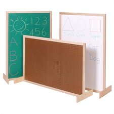 Two-Position Room Divider Bulletin Board, 3' x 4'