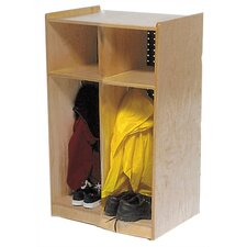 1 Tier 2-Section Toddler Locker