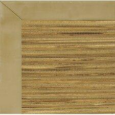 Cheena Dynasty Smooth Leather Husk Bordered Area Rug