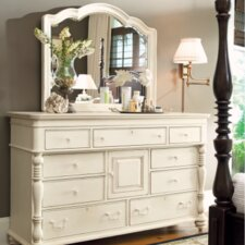 Steel Magnolia 9 Drawer Combo Dresser with Mirror
