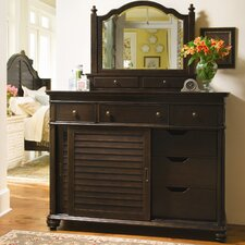 The Bag Lady's 6 Drawer Combo Dresser with Mirror
