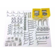83 Piece Zinc Plated Steel Hook and Bin Assortment