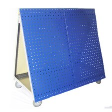 Aluminum Frame Tool Cart with Tray and LocBoard