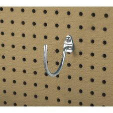 DuraHook 3-3/4 In. Curved 3-3/32 In. I.D. Zinc Plated Steel Pegboard Hook for DuraBoard, 10 Pack