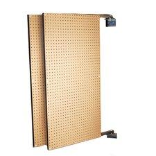 XtraWall (2) 24 In. W x 48 In. H x 1-1/2 In. D Wall Mount Double-Sided Swing Panel Pegboard
