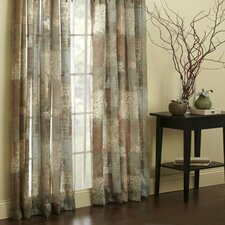 Madagascar Polyester Rod Pocket Sheer Single Curtain Panel