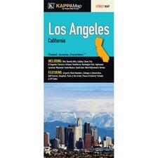 Los Angeles California Fold Map (Set of 2)